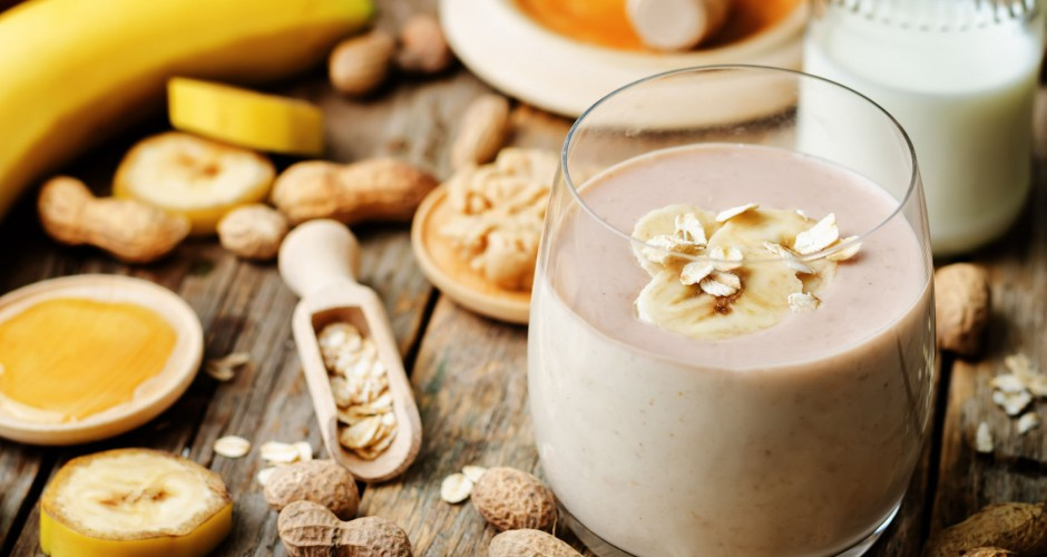 Peanut banana smoothie
